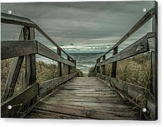 Acrylic Print featuring the photograph Storm Front On Lake Michigan by Owen Weber