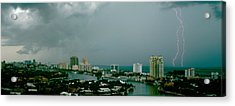 Storm Ft Lauderdale Fl Acrylic Print by Panoramic Images