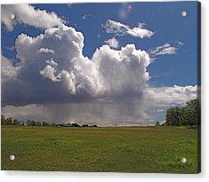 Storm Happening Acrylic Print by John Norman Stewart