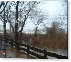 Acrylic Print featuring the photograph Storm In Staten Island by Desline Vitto