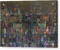 Storm In The City  Acrylic Print by Andy  Mercer