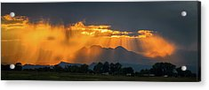 Storm Of Gold Acrylic Print
