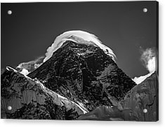 Acrylic Print featuring the photograph Storm On Everest by Owen Weber