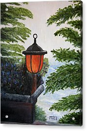 Acrylic Print featuring the painting Storm On Lake Of The Woods by Marilyn  McNish