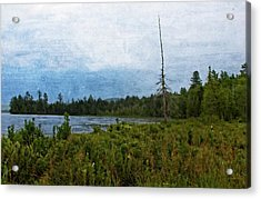 Acrylic Print featuring the digital art Storm On Raquette Lake by Christopher Meade