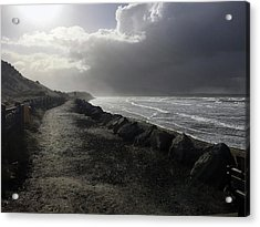 Storm On Strandhill Acrylic Print by Amy Williams