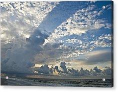Storm On The Gulf Acrylic Print by Jennifer Kelly