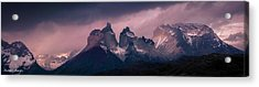 Acrylic Print featuring the photograph Storm On The Peaks by Andrew Matwijec