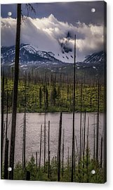 Acrylic Print featuring the photograph Storm On Three Fingered Jack by Cat Connor