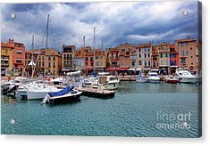 Storm Over Cassis Acrylic Print by Olivier Le Queinec