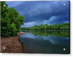 Storm Over Creve Coeur Lake Mo-7k_dsc0415_16-08-12 Acrylic Print