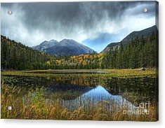 Storm Over Cub Lake Acrylic Print by Pete Hellmann