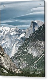 Acrylic Print featuring the photograph Storm Over Half Dome by Sandra Bronstein