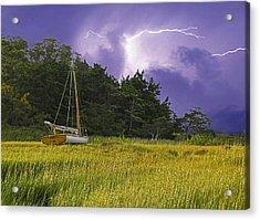 Storm Over Knott's Island Acrylic Print