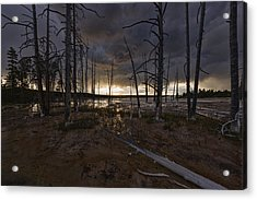 Storm Over Lower Geyser Basin Acrylic Print