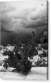 Storm Over Sand Bench Utah Acrylic Print by John Hermann