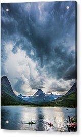 Storm Over Swiftcurrent Lake Acrylic Print