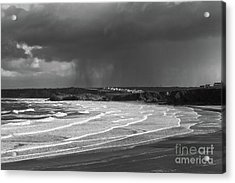 Acrylic Print featuring the photograph Storm  Over The Bay by Nicholas Burningham
