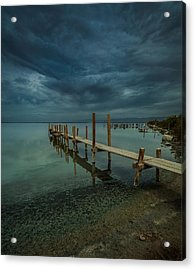 Storm Over The Dock Acrylic Print