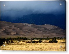 Storm Over The Great Dunes Colorado  Acrylic Print