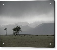 Storm Over The Rockies Acrylic Print