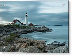 Storm Passing At Portland Head Light Acrylic Print