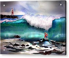 Storm Surf Moment Acrylic Print