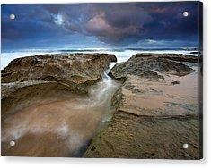 Storm Surge Acrylic Print by Mike  Dawson