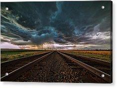 Storm Tracks Acrylic Print by Darren  White