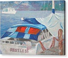 Acrylic Print featuring the painting Storm Warning by Tony Caviston