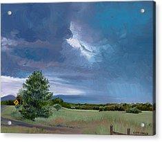 Storm Warning Yell County Arkansas Acrylic Print by Cathy France