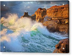 Acrylic Print featuring the photograph Storm Watchers by Darren White