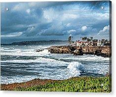 Storm Wave At Sunset Cliffs Acrylic Print