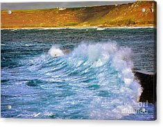 Storm Wave Acrylic Print by Louise Heusinkveld