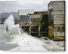 Storm Waves Hit Aeneas Ruins At Cannery Row Acrylic Print