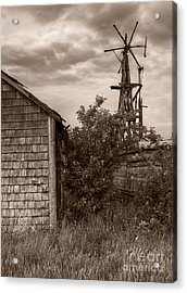 Stormclouds Over Abandoned Farm Acrylic Print by Royce Howland