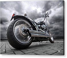 Storming Harley Acrylic Print by Gill Billington