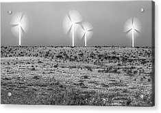 Storms And Halos Bw Acrylic Print