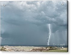 Storms In The Badlands Acrylic Print
