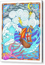Storms Of Life Acrylic Print by Jennifer Allison