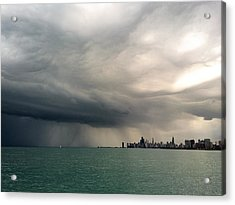 Storms Over Chicago Acrylic Print