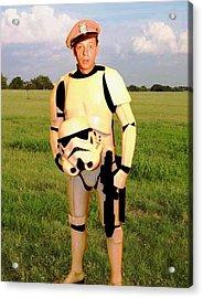 Stormtrooper Barney Fife Acrylic Print by Paul Van Scott