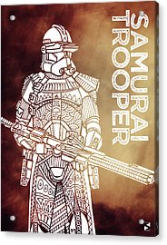 Stormtrooper - Star Wars Art - Brown Acrylic Print