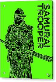 Stormtrooper - Green - Star Wars Art Acrylic Print