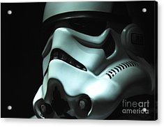 Stormtrooper Helmet Acrylic Print by Micah May