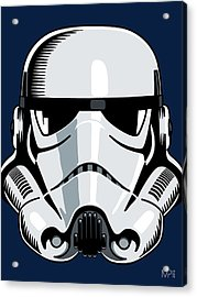 Stormtrooper Acrylic Print by IKONOGRAPHI Art and Design