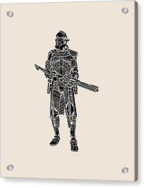 Stormtrooper Samurai - Star Wars Art - Black Acrylic Print