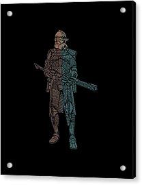Stormtrooper Samurai - Star Wars Art - Minimal Acrylic Print