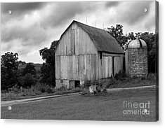 Stormy Barn Acrylic Print by Perry Webster