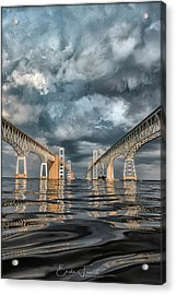 Stormy Chesapeake Bay Bridge Acrylic Print
